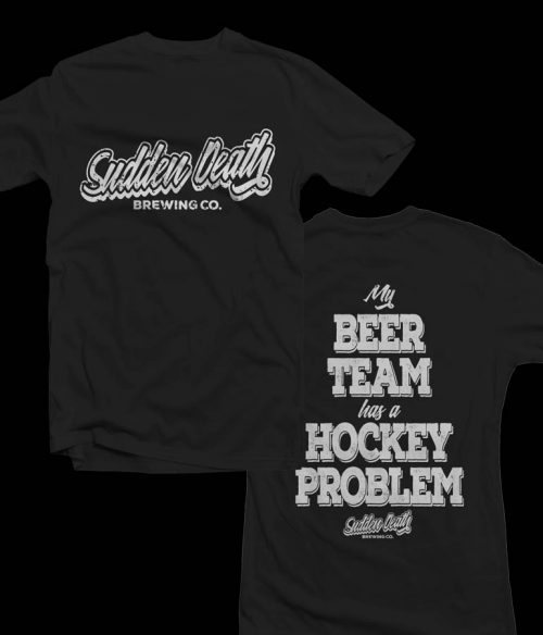 t-shirt my beer team has a hockey problem